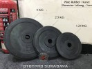 Plate Rubber Dumbbell atau Barbell